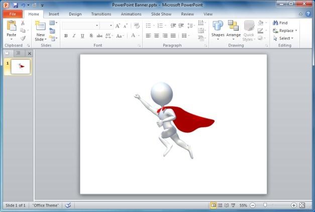 Stick Figure Superhero Flying