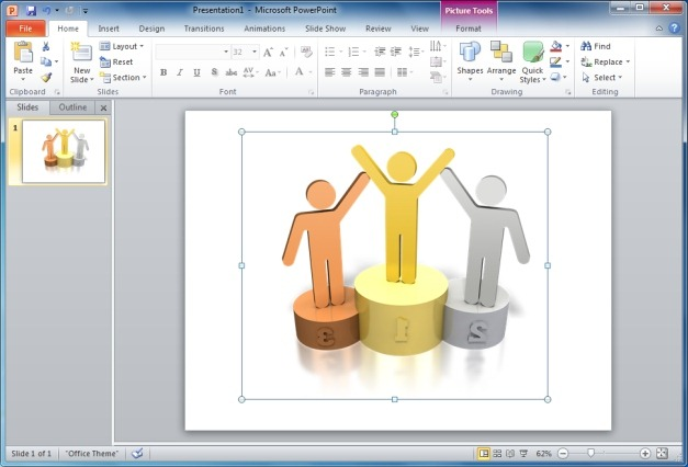 Stick Figures Podium Winners Clipart