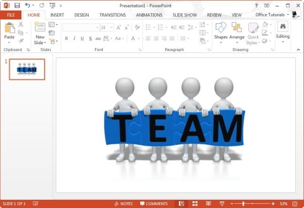Stick Figures Team Puzzle Clipart