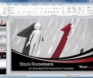 Animated Stock Rocketeers Template For Bull Market Presentations