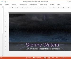 Animated Stormy Waters PowerPoint Template