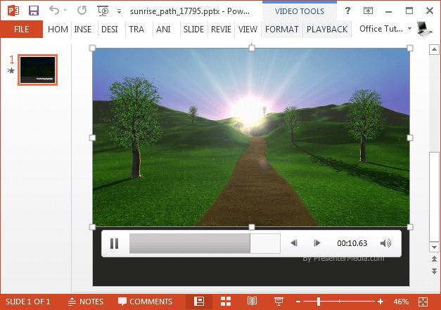 Sunrise video background
