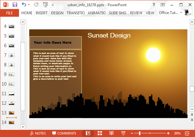 Sunset PowerPoint background