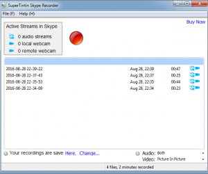 SuperTinTIn: Skype Recorder For Recording Video & Audio Calls