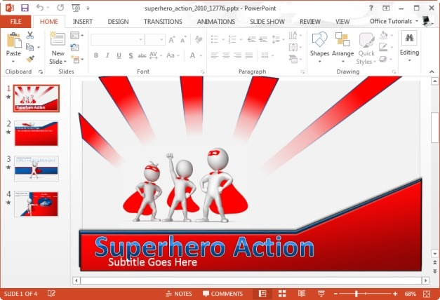 Superhero Action PowerPoint Template