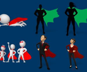 Superhero Clipart Images & Animations For PowerPoint