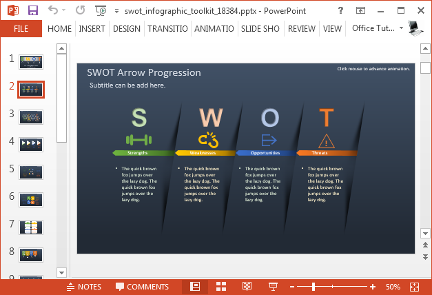 Swot analysis diagrams