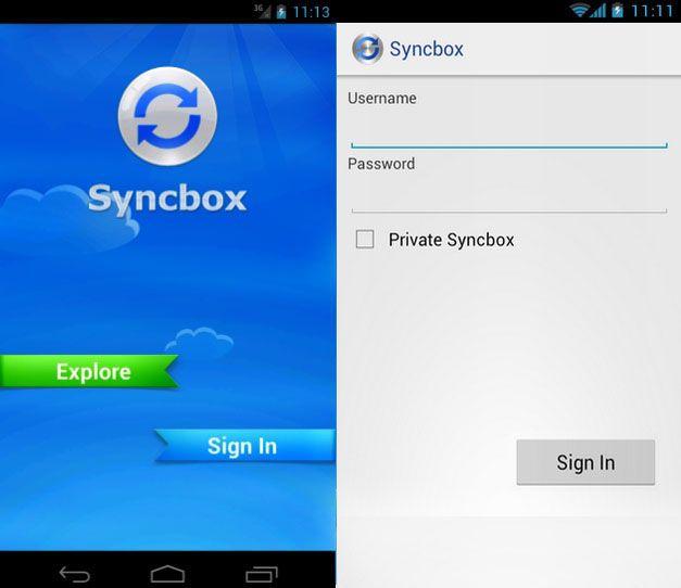 Syncbox Login