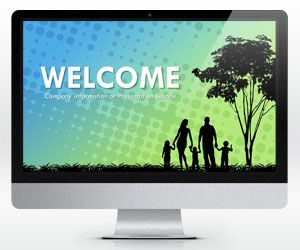 Widescreen Family PowerPoint Template