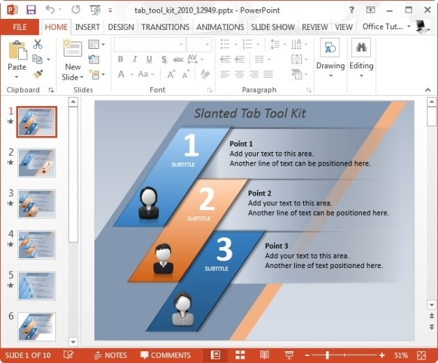 Tab Tool Kit Template for PowerPoint