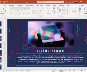 Tech wire presentation template