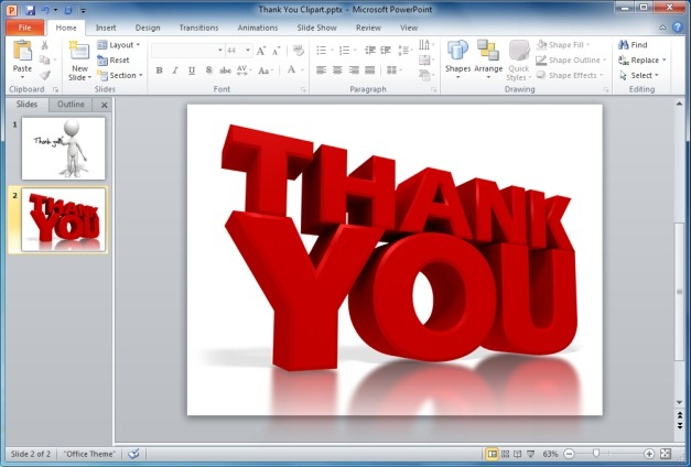 Finish Your Powerpoint Presentations With Animated Thank You