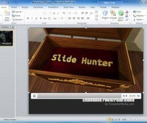 PowerPoint Template With Thief Running Across Rooftops in HD Animation