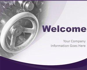 Glossy Violet PowerPoint Template