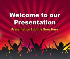 People Crowd PowerPoint Template