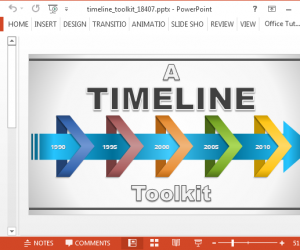 Animated Timeline Maker Template For PowerPoint