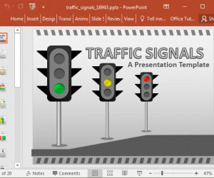 Animated Traffic Signal Template For PowerPoint