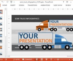 Animated Transport Truck PowerPoint Template