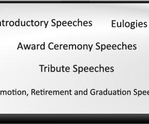 What Are The 5 Different Types Of Ceremonial Speeches?