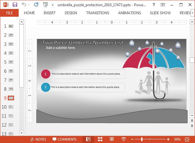 Umbrella bullet list