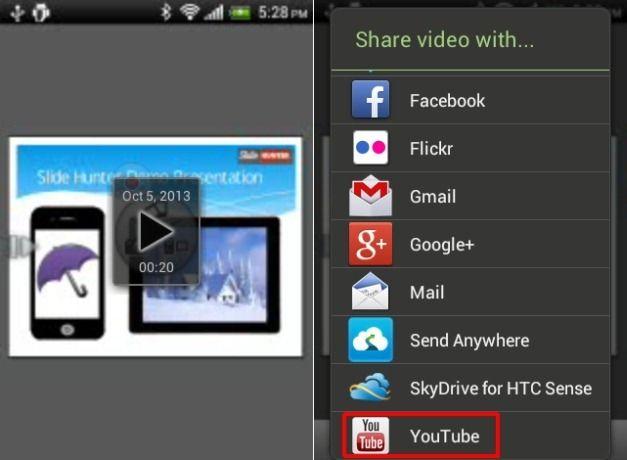 Upload Presentation To YouTube