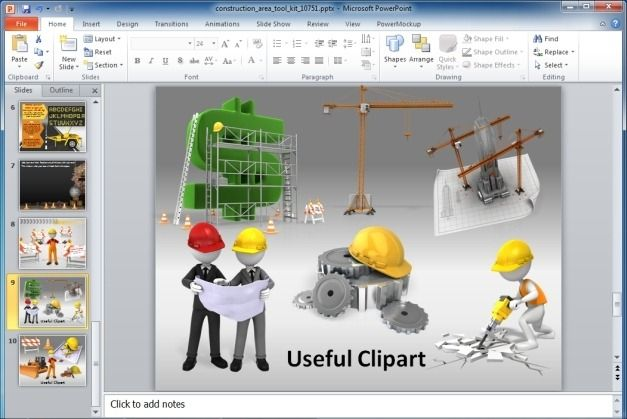 Useful Construction Themed Clipart