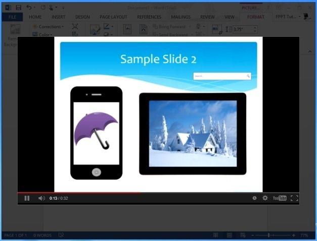 Video Presentation in MS Word