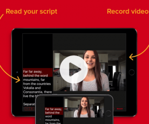 Record Video Presentations With Video Teleprompter For iPhone & iPad