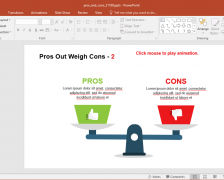 Comparing Pros And Cons PowerPoint Template