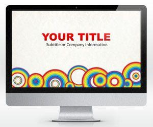 Widescreen Rainbow Circles PowerPoint Template