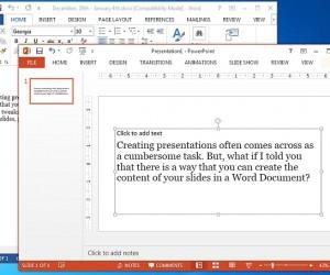 How To Send A Word Document To PowerPoint As Slides