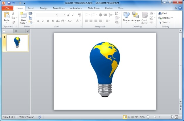 World Map Light Bulb Animated Clipart