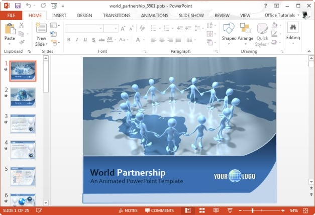 World Partnership PowerPoint Template