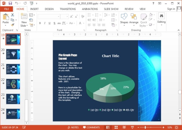 World grid animation and clipart