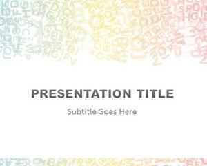 Alphabet Colored PowerPoint Template