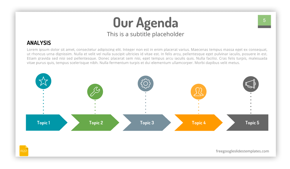 Agenda Slide for Google Slides