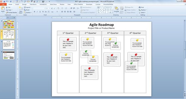 agile template product development powerpoint