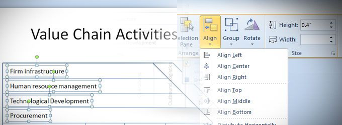 align text powerpoint