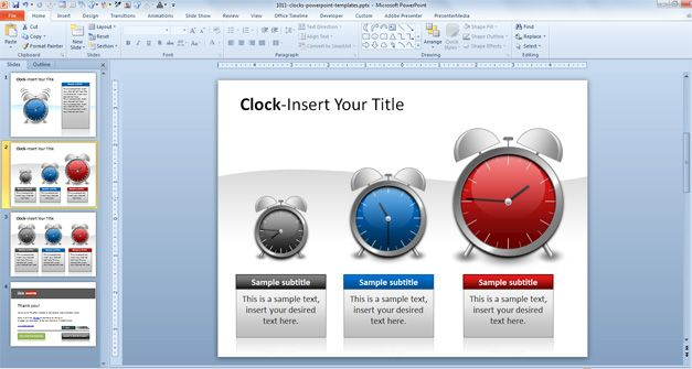 Clock PowerPoint Images Time and Date