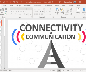animated connectivity and communication powerpoint template