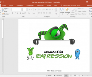 Animated Cute Monsters PowerPoint Template