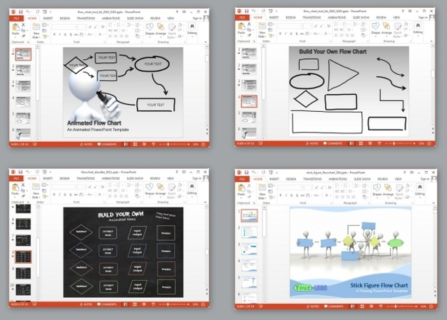 animated flowchart templates for powerpoint