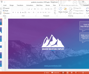 Animated Gradient Mountains Template For PowerPoint