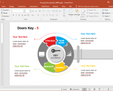 Animated Door And Key PowerPoint Template
