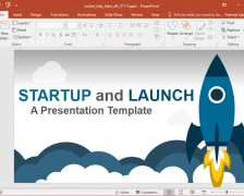 Animated Launching Startup PowerPoint Template