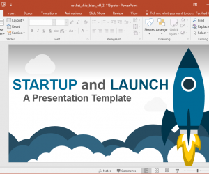 Animated launch startup powerpoint template