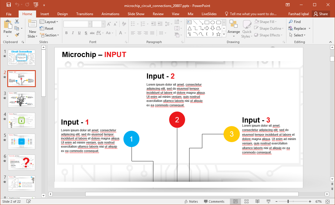 animated microchip powerpoint template