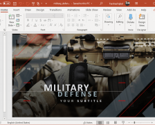 Animated Military Defense PowerPoint Template