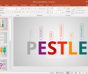 Animated PESTLE Analysis PowerPoint Template