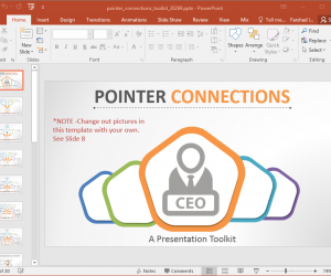 Animated Pointer Connections PowerPoint Template